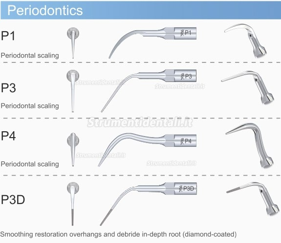 Woodpecker® Kit Inserti da parodontologia EMS Compatibile P2L P2R P2LD P2RD