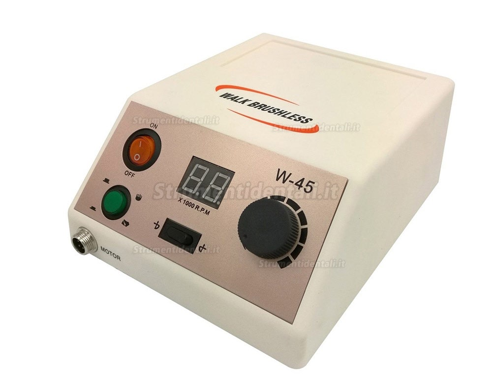 Micromotor lucidatrice w-45 con pedale on-off lucidatrice