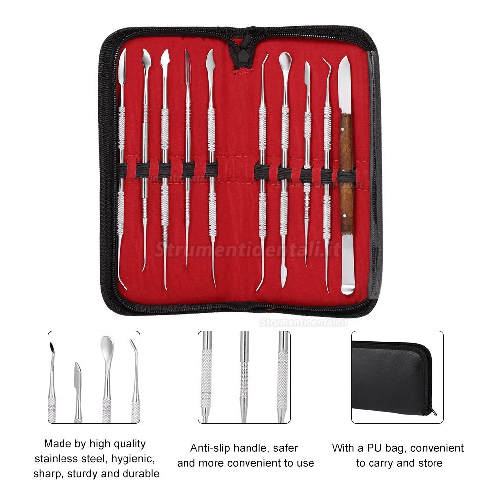 10Pcs Wax Carving Strumento Set Strumento Dentale Kit Versatile Attrezzature Di Laboratorio