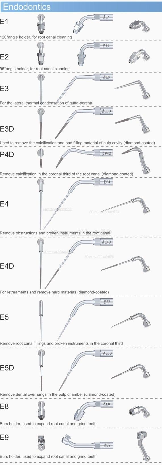 5PZ Woodpecker® E2 Inserti Endo per Root Otturazione di Canale EMS Compatibile